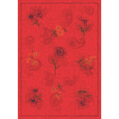 Pastiche Vintage Aurora Red Area Rug Rug Size: Rectangle 54 x 78