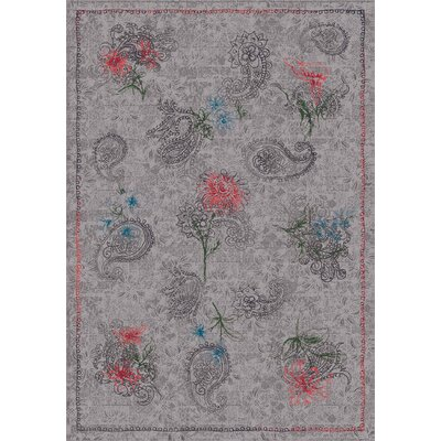 Pastiche Vintage Wispy Gray Area Rug Rug Size: Rectangle 78 x 109