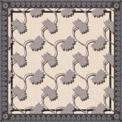 Pastiche Bantam Sand Ebony Rug Rug Size: Rectangle 109 x 132
