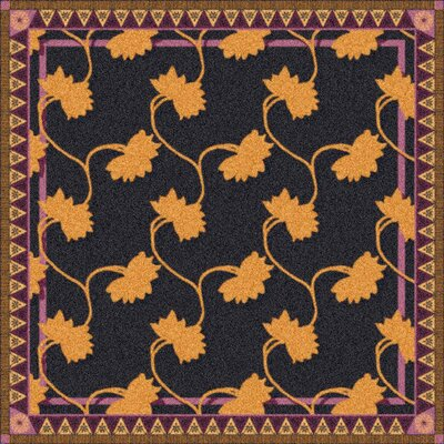 Pastiche Bantam Ebony Rug Rug Size: Rectangle 109 x 132