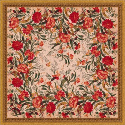 Pastiche Barrington Court Floral Curry Rug Rug Size: Square 77