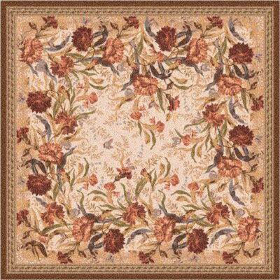 Pastiche Barrington Court Ecru Rug Rug Size: Square 77