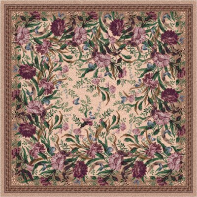 Pastiche Barrington Court Heathered Rose Rug Rug Size: Oval 78 x 109