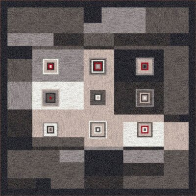 Pastiche Bloques Ebony Rug Rug Size: Rectangle 54 x 78