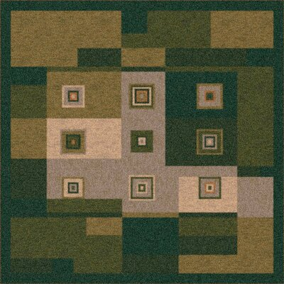 Pastiche Bloques Deep Olive Rug Rug Size: Rectangle 109 x 132