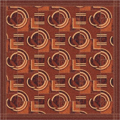 Pastiche Modernes Rusted Earth Area Rug Rug Size: Oval 78 x 109