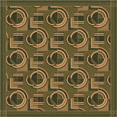 Pastiche Modernes Deep Olive Area Rug Rug Size: Rectangle 109 x 132