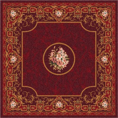 Pastiche Montfluer Dark Cherry Area Rug Rug Size: Rectangle 109 x 132
