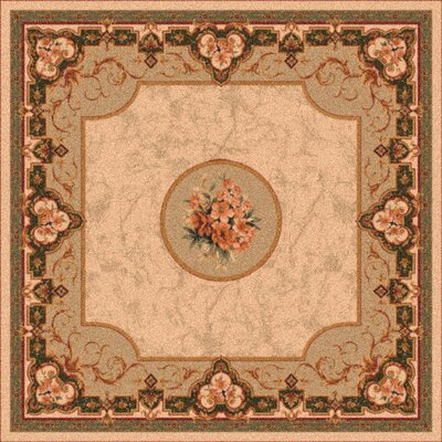 Pastiche Montfluer Boston Creme Area Rug Rug Size: Oval 78 x 109