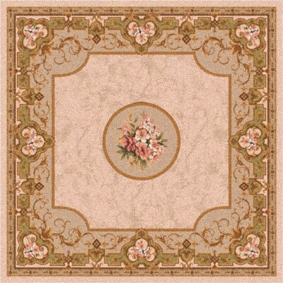 Pastiche Montfluer Ecru Brown Area Rug Rug Size: Rectangle 109 x 132