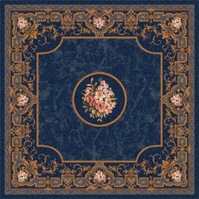 Pastiche Montfluer Phantom Blue Area Rug Rug Size: Oval 78 x 109