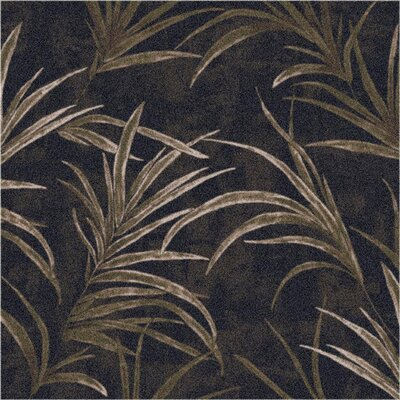Pastiche Rain Forest Ebony Area Rug Rug Size: Rectangle 78 x 109