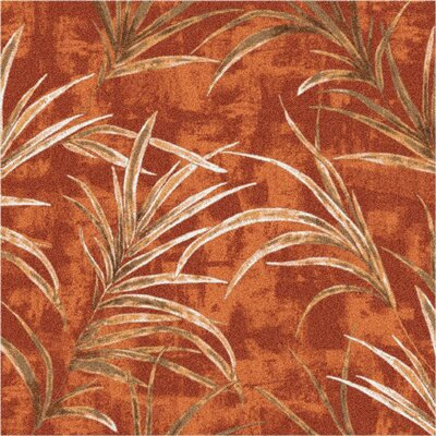 Pastiche Rain Forest Fall Orange Area Rug Rug Size: Round 77