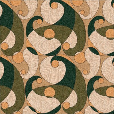 Pastiche Remous Deep Olive Area Rug Rug Size: Rectangle 109 x 132