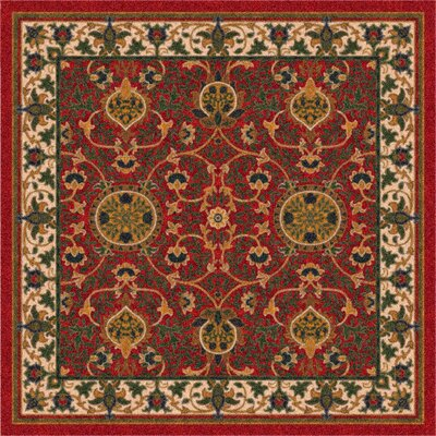 Pastiche Sumero Indian Red Area Rug Rug Size: Oval 54 x 78