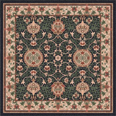 Pastiche Sumero Cream Ebony Area Rug Rug Size: Rectangle 109 x 132