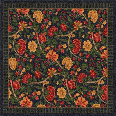 Pastiche Vachell Floral Ebony Area Rug Rug Size: Rectangle 21 x 78