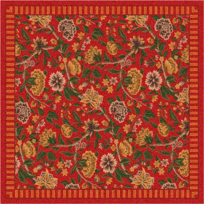 Pastiche Vachell Indian Red Area Rug Rug Size: Oval 54 x 78