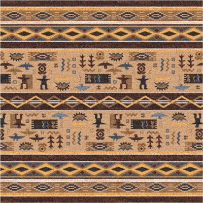 Pastiche Wide Ruins Velvet Brown Area Rug Rug Size: Square 7'7