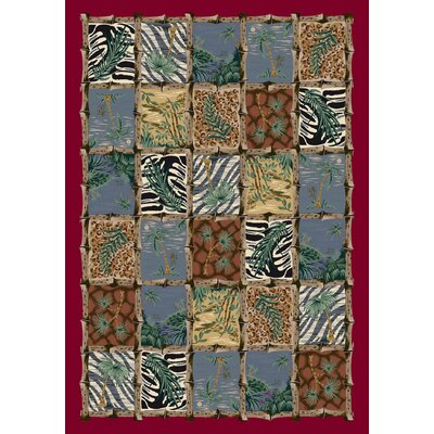 Signature Cayman Isle Ruby Area Rug Rug Size: Rectangle 109 x 132
