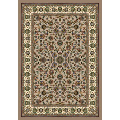Signature Persian Palace Sandstone Area Rug Rug Size: Rectangle 109 x 132