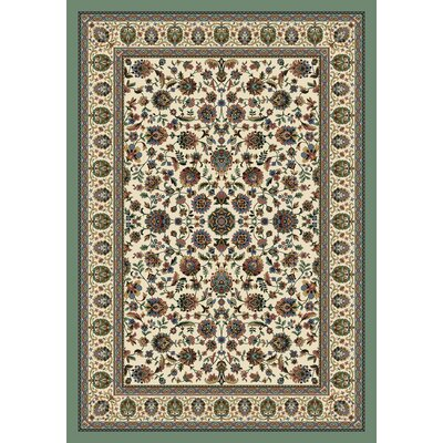 Signature Persian Palace Opal Area Rug Rug Size: Oval 5'4