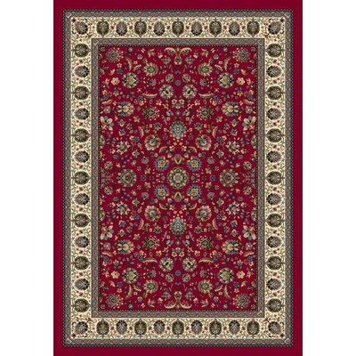 Signature Persian Palace Ruby Area Rug Rug Size: Oval 54 x 78