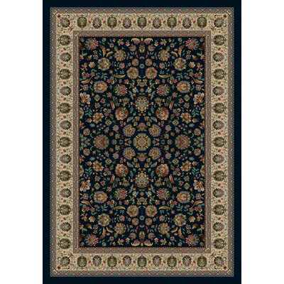 Signature Persian Palace Sapphire Area Rug Rug Size: Rectangle 78 x 109