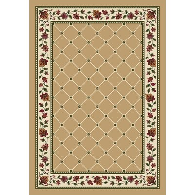 Signature Symphony Wheat Area Rug Rug Size: 54 x 78