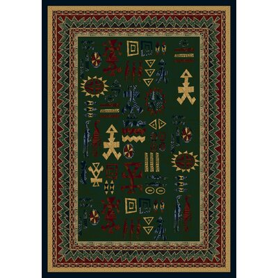 Signature Limoges Emerald Sapphire Area Rug Rug Size: Rectangle 78 x 109