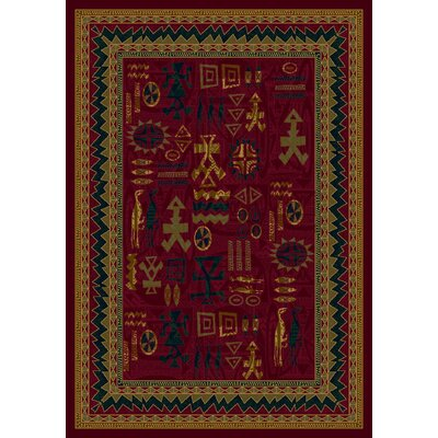Signature Limoges Garnet Area Rug Rug Size: Rectangle 109 x 132