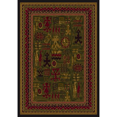 Signature Limoges Olive Area Rug Rug Size: Rectangle 109 x 132