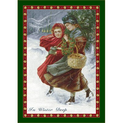 Winter Seasonal Holiday in Winter Deep Area Rug Rug Size: 310 x 54