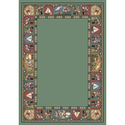 Signature Toy Parade Peridot Area Rug Rug Size: Oval 54 x 78
