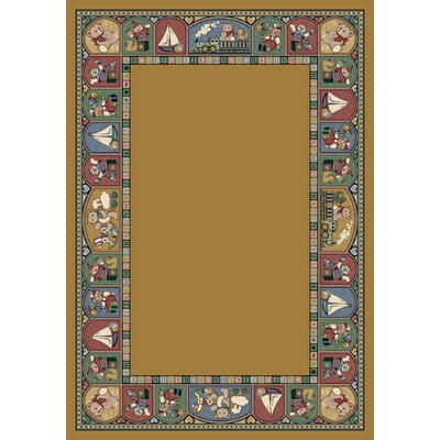 Signature Toy Parade Golden Topaz Area Rug Rug Size: Oval 54 x 78