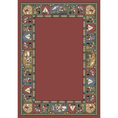 Signature Toy Parade Rose Area Rug Rug Size: Oval 310 x 54