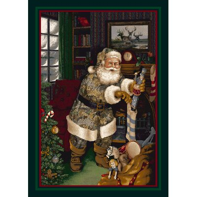 Realtree Camo Santa Christmas Area Rug Rug Size: Rectangle 28 x 310