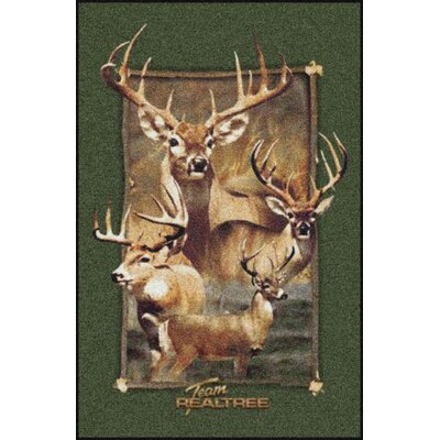 Realtree Jordan Bucks Area Rug Rug Size: Rectangle 310 x 54