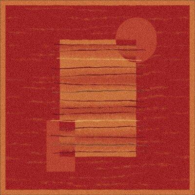 Pastiche Horizon Persimmon Rug Rug Size: Square 77