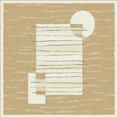 Pastiche Horizon Ecru Rug Rug Size: Square 77