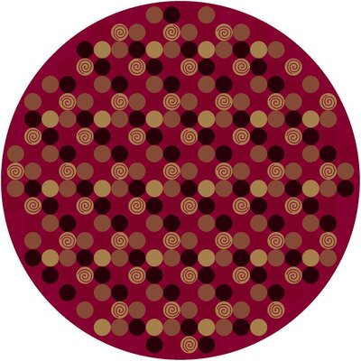 Innovation Da T Da Cherry Area Rug Rug Size: Round 77
