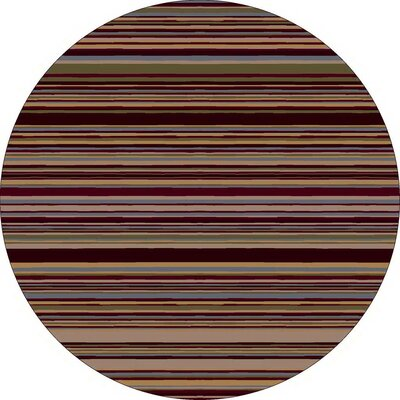 Innovation Lola Dark Chocolate Striped Area Rug Rug Size: Round 77