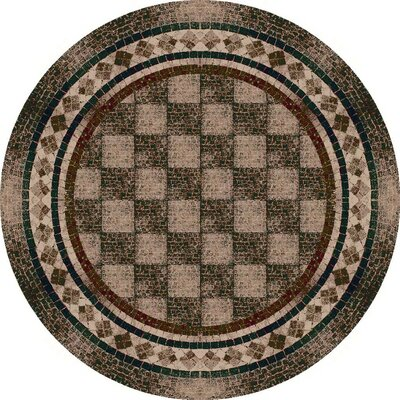 Innovation Dark Amber Flagler Area Rug Rug Size: Round 77
