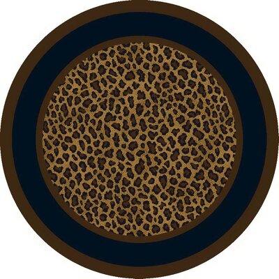 Victorville Leopard Print Zimbala Area Rug Rug Size: Round 77