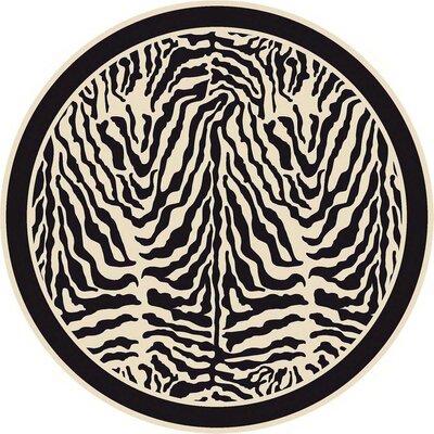 Innovation Print Zulu Zebra Area Rug Rug Size: Round 77