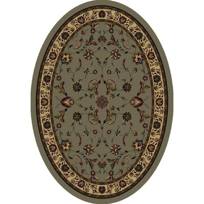 Signature Isfahan Sage Area Rug Rug Size: Oval 3'10