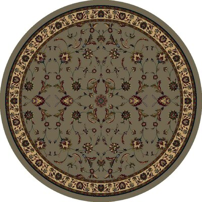 Signature Isfahan Sage Area Rug Rug Size: Round 7'7