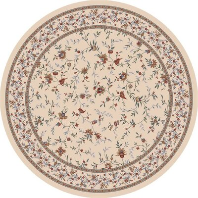Pastiche Hampshire Floral Sand Rug Rug Size: Round 7'7