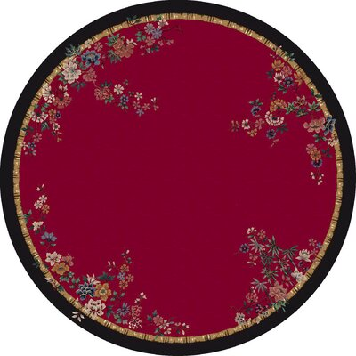 Signature Mindre Ruby Area Rug Rug Size: Round 77