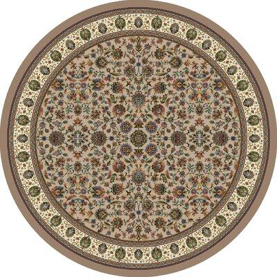 Signature Persian Palace Sandstone Area Rug Rug Size: Round 77